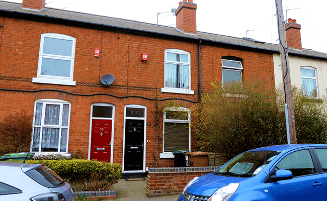 Victorian Terrace typical of Wolverhampton properties